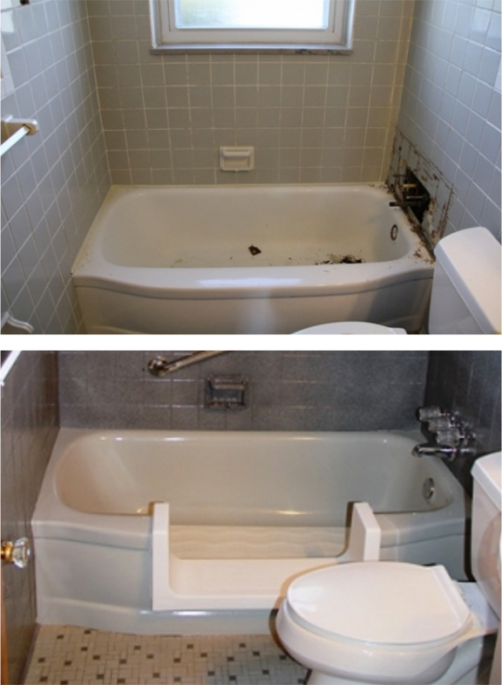 For specific instructions on how to provide a color sample or how to order  a custom color for your bathtub refinishing  use the contact form to the  right. Safeway Step Contractor for Plymouth MI   Bathtub Modifications