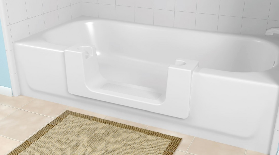 Safeway Step Contractor for Plymouth MI - Bathtub Modifications | Surface Solutions - Safeway_ConvertibleTub_wOPlug